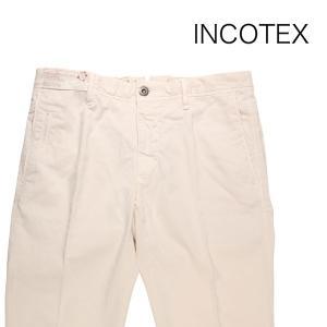 【35】 INCOTEX インコテックス コットンパンツ 1ST619/90678035 メンズ 春夏 ホワイト 白 並行輸入品 ズボン 大きいサイズ|utsubostock