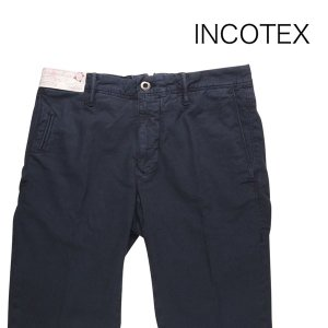 【38】 INCOTEX インコテックス コットンパンツ 1ST619/90676822 メンズ 春夏 リネン混 ネイビー 紺 並行輸入品 ズボン 大きいサイズ|utsubostock