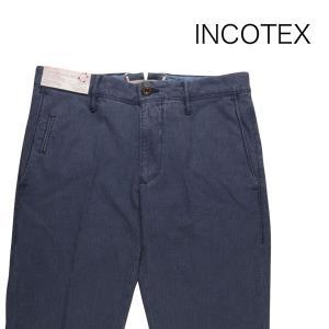 【35】 INCOTEX インコテックス コットンパンツ 1ST619/90680 メンズ 春夏 ブルー 青 並行輸入品 ズボン 大きいサイズ|utsubostock