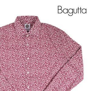 【40】 Bagutta バグッタ 長袖シャツ メンズ 花柄 レッド 赤 並行輸入品 カジュアルシャツ|utsubostock