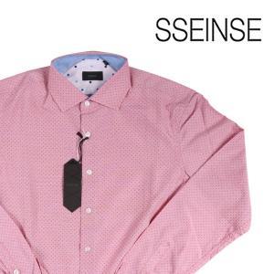 SSEINSE 長袖シャツ メンズ S/44 レッド 赤 センス 並行輸入品 utsubostock