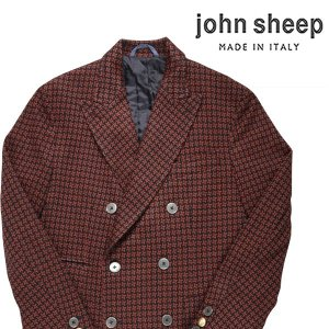 【46】 JOHN SHEEP ジョン・シープ コート メンズ 秋冬 総柄 オレンジ 並行輸入品 アウター トップス|utsubostock
