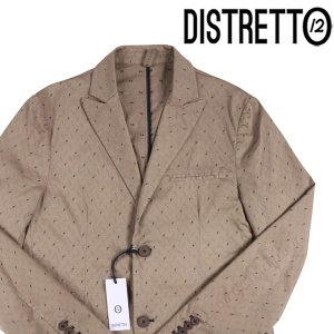 【50】 DISTRETTO 12 ディストレット12 ジャケット メンズ 春夏 刺繍 ベージュ 並行輸入品 アウター トップス|utsubostock