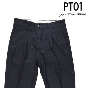 PT01 ヴァージンウール100% ウールパンツ CWHS05B00FWD navy 31 17402【W17403】|utsubostock