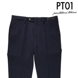 【48】 PT01 ピーティー ゼロウーノ スラックス CODSWT メンズ 秋冬 無地 ネイビー 紺 並行輸入品 ズボン|utsubostock