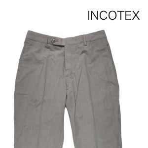 【46】 INCOTEX インコテックス コットンパンツ 1GWT5T61447 メンズ 春夏 チェック グレー 灰色 並行輸入品 ズボン|utsubostock