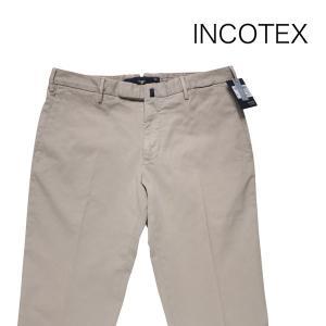 INCOTEX 無地 コットンパンツ 1AGW304290M beige 48 17432【A17433】 インコテックス|utsubostock