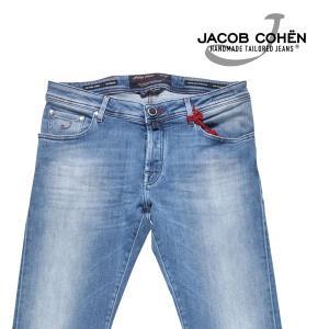 JACOB COHEN 無地 ジーンズ J622COMF denim x blue 36 17462【A17463】 ヤコブコーエン|utsubostock