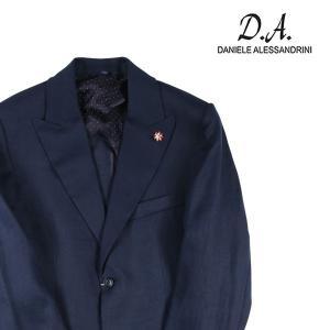 【50】 Daniele Alessandrini ダニエレアレッサンドリーニ ジャケット メンズ 春夏 リネン100% ネイビー 紺 並行輸入品 アウター トップス|utsubostock