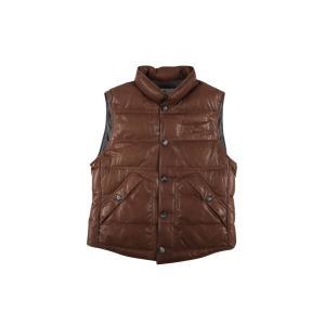 BRUNELLO CUCINELLI ダウンベスト CS369 brown x gray M【W17536】|utsubostock|02