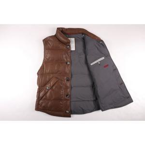 BRUNELLO CUCINELLI ダウンベスト CS369 brown x gray M【W17536】|utsubostock|05