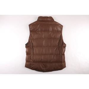 BRUNELLO CUCINELLI ダウンベスト CS369 brown x gray M【W17536】|utsubostock|07