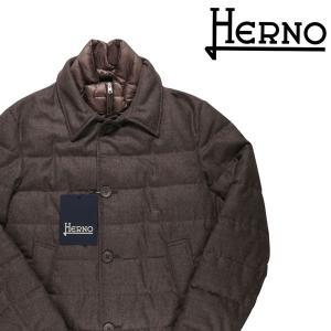 HERNO ダウンジャケット メンズ 秋冬 52/2XL ブラウン 茶 PC0018 ヘルノ 大きいサイズ 並行輸入品|utsubostock