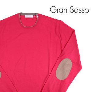 【52】 Gran Sasso グランサッソ 丸首セーター メンズ ヴァージンウール100% 無地 ピンク 並行輸入品 ニット 大きいサイズ|utsubostock
