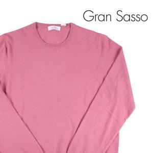 【52】 Gran Sasso グランサッソ 丸首セーター メンズ 秋冬 カシミヤ混 無地 ピンク 並行輸入品 ニット 大きいサイズ|utsubostock