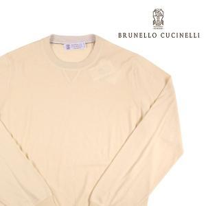 BRUNELLO CUCINELLI 丸首セーター メンズ 46/M ベージュ カシミヤ混 M2400130 ブルネロクチネリ 並行輸入品|utsubostock