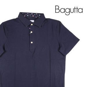 Bagutta ワンポイント 半袖ポロシャツ P043S7 navy XL 17630【S17633】 バグッタ|utsubostock
