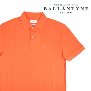 BALLANTYNE 半袖ポロシャツ メンズ 春夏 S/44 オレンジ IMW037 バランタイン 並行輸入品|utsubostock