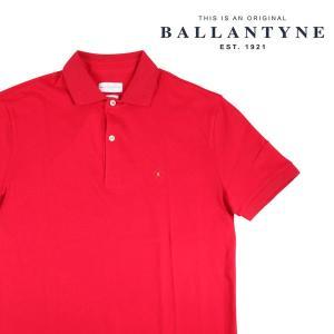 BALLANTYNE 半袖ポロシャツ メンズ 春夏 M/46 レッド 赤 IMW037 バランタイン 並行輸入品|utsubostock