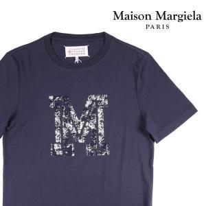 Maison Margiela Uネック半袖Tシャツ メンズ 春夏 50/XL ネイビー 紺 メゾンマルジェラ 並行輸入品 utsubostock