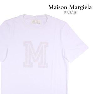 Maison Margiela Uネック半袖Tシャツ メンズ 春夏 48/L ホワイト 白 メゾンマルジェラ 並行輸入品|utsubostock