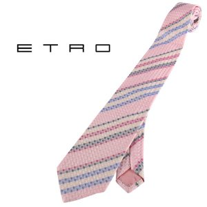 ETRO ネクタイ メンズ ピンク シルク100% エトロ 並行輸入品|utsubostock