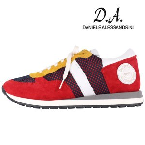 【40】 Daniele Alessandrini sigma スニーカー メンズ レッド 赤 レザー 並行輸入品|utsubostock