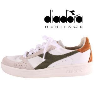 diadora HERITAGE スニーカー メンズ 41/25.5cm ホワイト 白 レザー ディアドラヘリテージ 並行輸入品|utsubostock