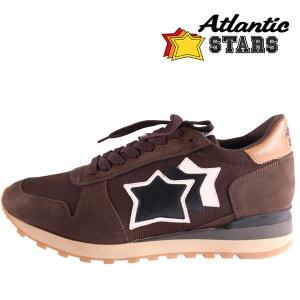 【44】 Atlantic STARS アトランティックスターズ スニーカー ARGO メンズ ブラウン 茶 レザー 並行輸入品 大きいサイズ|utsubostock