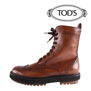 TOD'S ブーツ メンズ 秋冬 41/25.5cm ブラウン 茶 レザー STIV,ALEBUC トッズ 並行輸入品|utsubostock