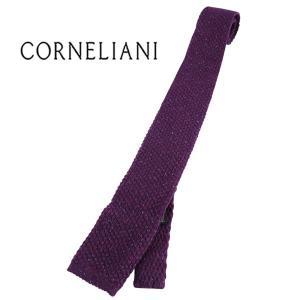 CORNELIANI ネクタイ メンズ 秋冬 パープル 紫 シルク混 コルネリアーニ 並行輸入品|utsubostock