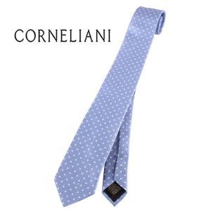 CORNELIANI ネクタイ メンズ ブルー 青 シルク混 コルネリアーニ 並行輸入品|utsubostock
