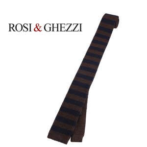 ROSI&GHEZZI ネクタイ メンズ 秋冬 ブラウン 茶 ロシゲッツィ 並行輸入品|utsubostock