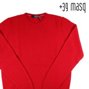 【L】 +39 masq マスク 丸首セーター メンズ 秋冬 レッド 赤 並行輸入品 ニット|utsubostock