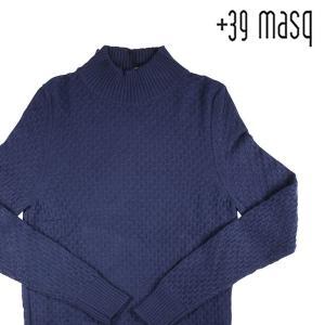 +39 masq ハイネックセーター メンズ 秋冬 L/48 ネイビー 紺 カシミヤ混 マスク 並行輸入品 utsubostock