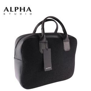 ALPHA STUDIO ブリーフケース メンズ ブラック 黒 アルファ・ステューディオ 並行輸入品|utsubostock