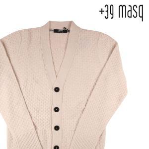 +39 masq カーディガン メンズ 秋冬 M/46 ホワイト 白 カシミヤ混 マスク 並行輸入品|utsubostock