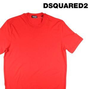 【L】 DSQUARED2 UNDERWEAR ディースクエアード アンダーウェア Uネック半袖Tシャツ メンズ 春夏 オレンジ 並行輸入品 トップス|utsubostock