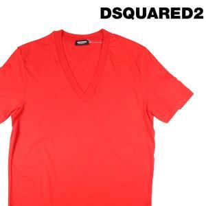 【XXL】 DSQUARED2 UNDERWEAR ディースクエアード アンダーウェア Vネック半袖Tシャツ メンズ 春夏 オレンジ 並行輸入品 トップス 大きいサイズ|utsubostock