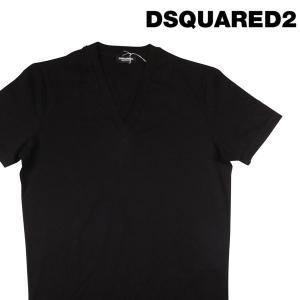 【S】 DSQUARED2 UNDERWEAR ディースクエアード アンダーウェア Vネック半袖Tシャツ メンズ 春夏 ブラック 黒 並行輸入品 トップス|utsubostock