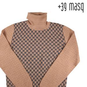 +39 masq タートルネックセーター メンズ 秋冬 S/44 ベージュ ヴァージンウール100% マスク 並行輸入品|utsubostock