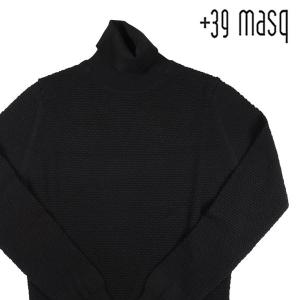 【M】 +39 masq マスク タートルネックセーター メンズ 秋冬 ヴァージンウール100% ブラック 黒 並行輸入品 ニット utsubostock