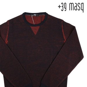 +39 masq 丸首セーター メンズ 秋冬 S/44 オレンジ ヴァージンウール100% マスク 並行輸入品|utsubostock