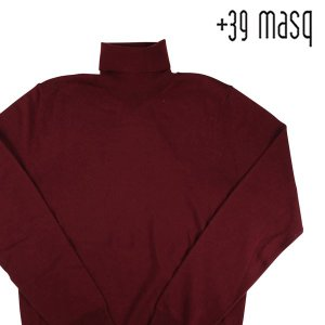 +39 masq タートルネックセーター メンズ 秋冬 S/44 レッド 赤 ヴァージンウール100% マスク 並行輸入品 utsubostock