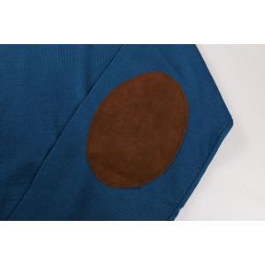 +39 masq Vネックセーター メンズ 秋冬 S/44 ブルー 青 ヴァージンウール100% マスク 並行輸入品|utsubostock|04