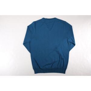+39 masq Vネックセーター メンズ 秋冬 S/44 ブルー 青 ヴァージンウール100% マスク 並行輸入品|utsubostock|05