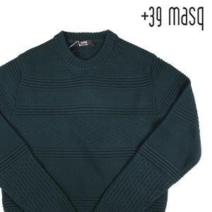【M】 +39 masq マスク 丸首セーター メンズ 秋冬 ヴァージンウール100% グリーン 緑 並行輸入品 ニット|utsubostock