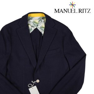 MANUEL RITZ ジャケット メンズ 48/L ネイビー 紺 マニュエル リッツ 並行輸入品|utsubostock