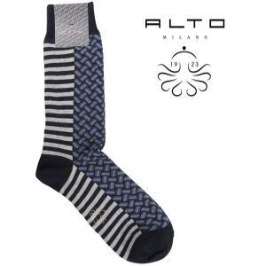 alto milano   靴下 AIAM1362UC navy x blue  18120BL【A18120】 アルト|utsubostock
