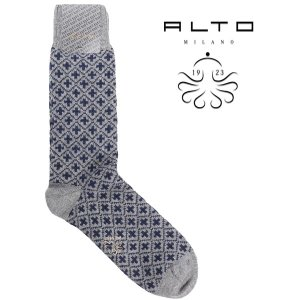 alto milano 靴下 メンズ 秋冬 グレー 灰色 アルト 並行輸入品|utsubostock